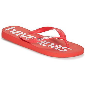 kengät Miehet Varvassandaalit Havaianas TOP LOGOMANIA Punainen