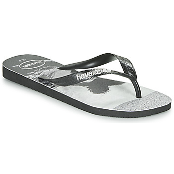 kengät Miehet Varvassandaalit Havaianas TOP PHOTOPRINT Black / White