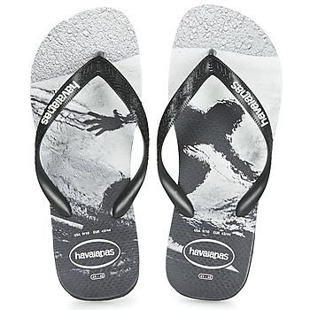 kengät Miehet Varvassandaalit Havaianas TOP PHOTOPRINT Black / White