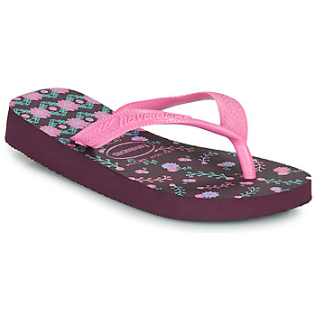 kengät Tytöt Varvassandaalit Havaianas KIDS FLORES Aubergine
