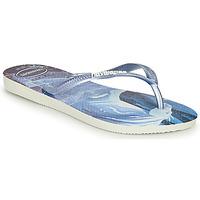 kengät Tytöt Varvassandaalit Havaianas KIDS SLIM FROZEN Sininen