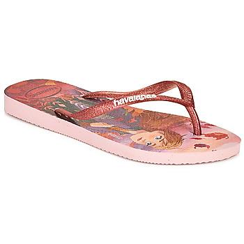 kengät Tytöt Varvassandaalit Havaianas KIDS SLIM FROZEN Vaaleanpunainen