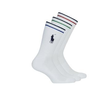 Asusteet / tarvikkeet Miehet Sukat Polo Ralph Lauren 3PK BPP-SOCKS-3 PACK White