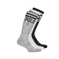 Asusteet / tarvikkeet Miehet Sukat Polo Ralph Lauren 3PK DBLE BAR-CREW-3 PACK White / Grey / Black