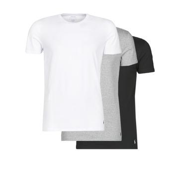 vaatteet Miehet Lyhythihainen t-paita Polo Ralph Lauren WHITE/BLACK/ANDOVER HTHR pack de