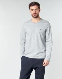 vaatteet Miehet T-paidat pitkillä hihoilla Polo Ralph Lauren L/S CREW-CREW-SLEEP TOP Grey
