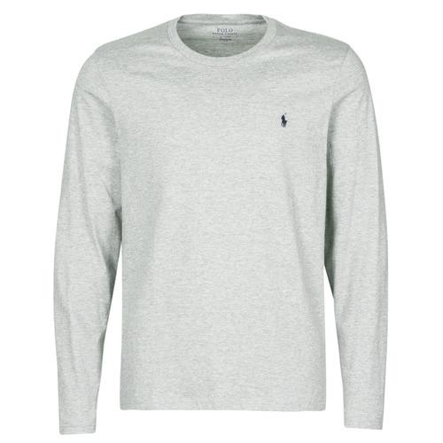 vaatteet Miehet Lyhythihainen t-paita Polo Ralph Lauren L/S CREW-CREW-SLEEP TOP Grey