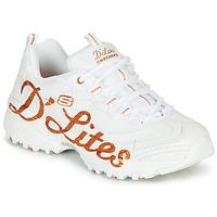 kengät Naiset Matalavartiset tennarit Skechers D'LITES Valkoinen