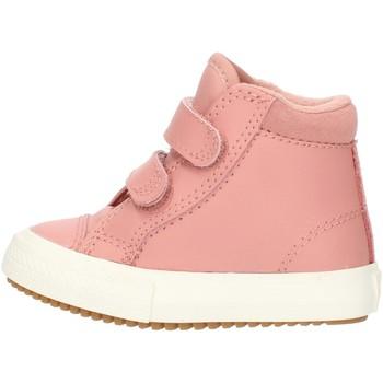 kengät Tytöt Korkeavartiset tennarit Converse 76198 Pink