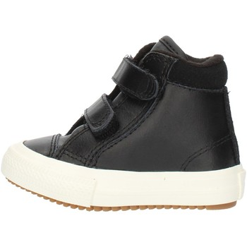 kengät Pojat Korkeavartiset tennarit Converse 76198 Black