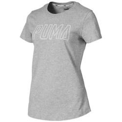 vaatteet Naiset Lyhythihainen t-paita Puma Athletics Logo Harmaat