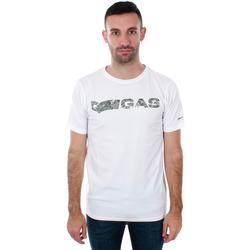 vaatteet Miehet Lyhythihainen t-paita Gas GATS01 JUNGLE T-SHIRT AB30 WHITE JUNGLE Blanco