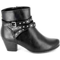 kengät Naiset Nilkkurit Jana Boots 25362-23 Noir Musta