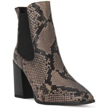 kengät Naiset Nilkkurit Café Noir CAFE NOIR  TRONCHETTO PITONE Nero