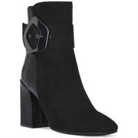 kengät Naiset Nilkkurit Café Noir CAFE NOIR  TRONCHETTO FIBBIA Nero