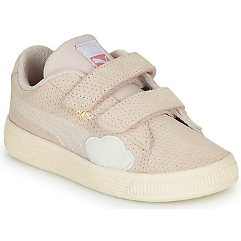 kengät Tytöt Matalavartiset tennarit Puma SUEDE Pink