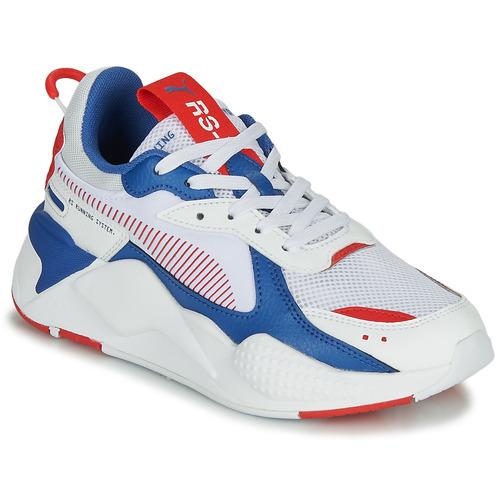 kengät Lapset Matalavartiset tennarit Puma RS-X White / Blue / Red