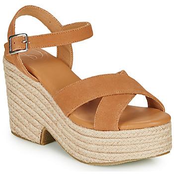kengät Naiset Sandaalit ja avokkaat Superdry HIGH ESPADRILLE SANDAL Cognac