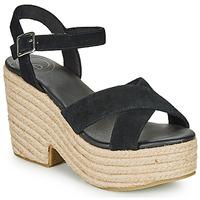 kengät Naiset Sandaalit ja avokkaat Superdry HIGH ESPADRILLE SANDAL Musta