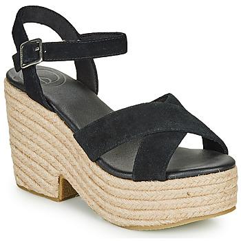 kengät Naiset Sandaalit ja avokkaat Superdry HIGH ESPADRILLE SANDAL Black