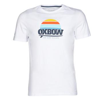 vaatteet Miehet Lyhythihainen t-paita Oxbow M1TEKSO White
