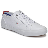 kengät Miehet Matalavartiset tennarit Tommy Hilfiger CORE CORPORATE FLAG SNEAKER White