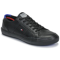 kengät Miehet Matalavartiset tennarit Tommy Hilfiger CORE CORPORATE FLAG SNEAKER Black