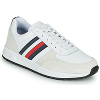 kengät Miehet Matalavartiset tennarit Tommy Hilfiger MODERN CORPORATE LEATHER RUNNER White