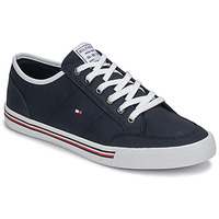 kengät Miehet Matalavartiset tennarit Tommy Hilfiger CORE CORPORATE TEXTILE SNEAKER Blue