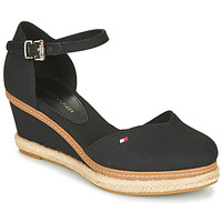 kengät Naiset Sandaalit ja avokkaat Tommy Hilfiger BASIC CLOSED TOE MID WEDGE Black
