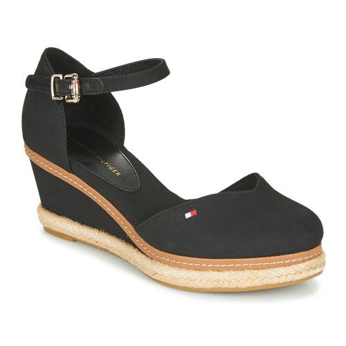 kengät Naiset Sandaalit ja avokkaat Tommy Hilfiger BASIC CLOSED TOE MID WEDGE Musta