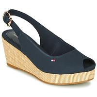 kengät Naiset Sandaalit ja avokkaat Tommy Hilfiger ICONIC ELBA SLING BACK WEDGE Blue