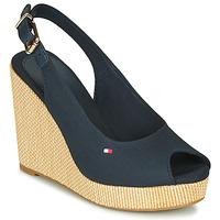 kengät Naiset Sandaalit ja avokkaat Tommy Hilfiger ICONIC ELENA SLING BACK WEDGE Blue