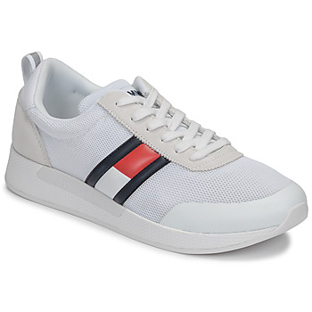 kengät Miehet Matalavartiset tennarit Tommy Jeans FLEXI TOMMY JEANS FLAG SNEAKER White