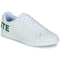 kengät Miehet Matalavartiset tennarit Lacoste CARNABY EVO 120 7 US SMA Valkoinen / Vihreä
