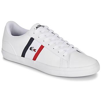 kengät Miehet Matalavartiset tennarit Lacoste LEROND TRI1 CMA White / Blue / Red