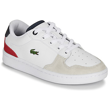 kengät Lapset Matalavartiset tennarit Lacoste MASTERS CUP 120 2 SUC White / Blue / Red