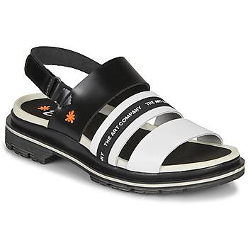 kengät Naiset Sandaalit ja avokkaat Art BIRMINGHAM Black / White
