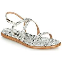kengät Naiset Sandaalit ja avokkaat Neosens AURORA White / Hopea