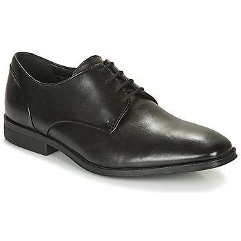 kengät Miehet Derby-kengät Clarks GILMAN PLAIN Musta
