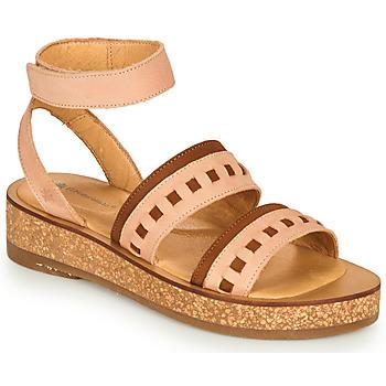 kengät Naiset Sandaalit ja avokkaat El Naturalista TÜLBEND Vaaleanpunainen / Ruskea