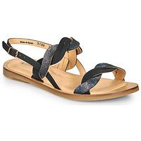 kengät Naiset Sandaalit ja avokkaat El Naturalista TULIP Black / Hopea