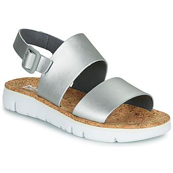 kengät Naiset Sandaalit ja avokkaat Camper ORUGA Hopea