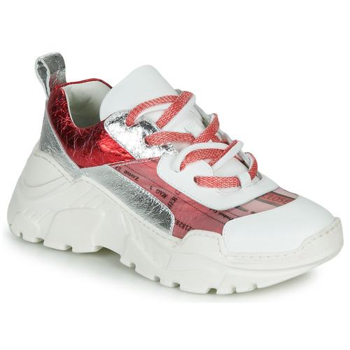 kengät Naiset Matalavartiset tennarit Fru.it CARETTE White / Red / Hopea