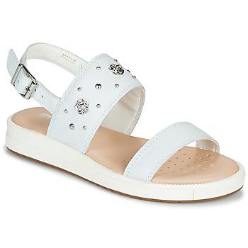 kengät Tytöt Sandaalit ja avokkaat Geox J SANDAL REBECCA GIR Valkoinen
