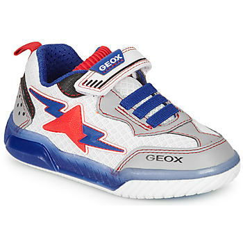kengät Pojat Matalavartiset tennarit Geox J INEK BOY White / Blue / Red