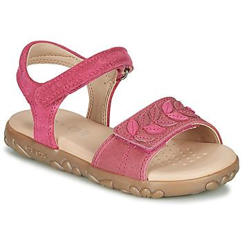 kengät Tytöt Sandaalit ja avokkaat Geox J SANDAL HAITI GIRL Fuksia
