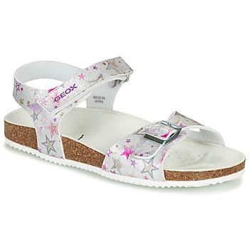 kengät Tytöt Sandaalit ja avokkaat Geox ADRIEL GIRL Hopea