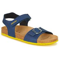 kengät Pojat Sandaalit ja avokkaat Geox J GHITA BOY Blue / Yellow