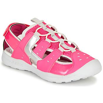 kengät Tytöt Urheilusandaalit Geox J VANIETT GIRL Pink / Hopea